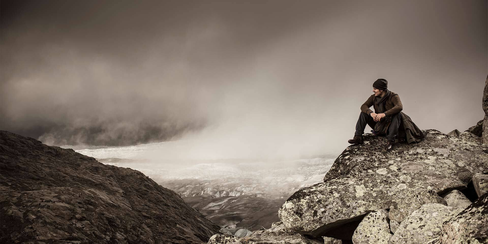 Daniel Albrecht skieur suisse sur sa montagne
