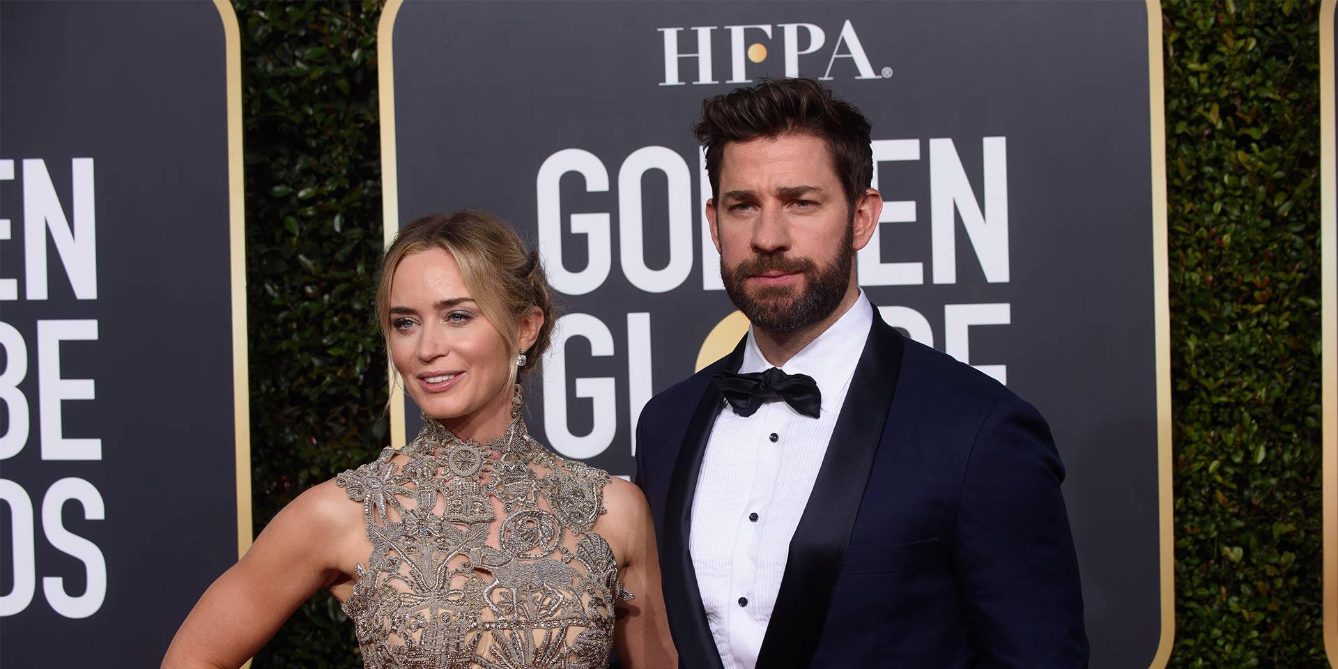 Cinema stars Emily Blunt et son mari John Krasinski