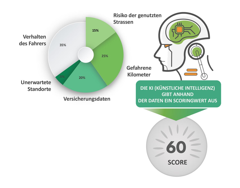Gewichtung der Risikofaktoren pro Scoring-Subgruppe. Datenquelle: kasko2go.