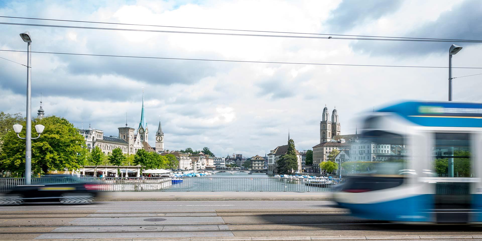 Mobilität auf der Quaibrücke Zürich