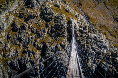 Adrenalin pur auf der Triftbrücke